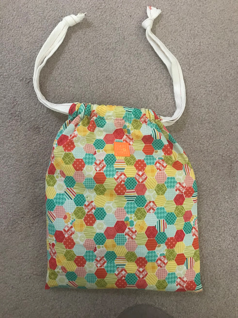 photo of a finished cloth bag